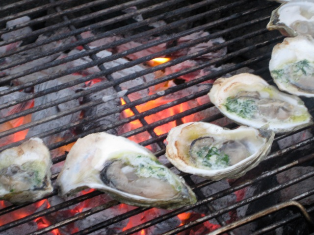 Oysters with Compound Butter